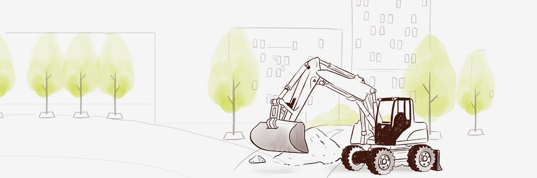 Illustration pour la solution de gestion pour la voirie, l'aménagement urbain, les travaux publics de l'ERP Biloba