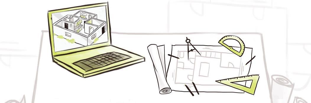 Illustration pour la solution Constructeurs - Promoteurs de l'ERP Biloba
