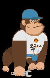 Illustration de la mascotte solution Maintenance de l'ERP Biloba