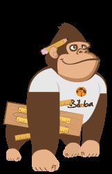 Illustration de la mascotte solution Suivi de Chantier, Agencement, Bâtiment de l'ERP Biloba