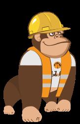 Illustration de la mascotte solution Voirie - Aménagement urbain de l'ERP Biloba