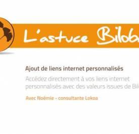 Astuce Biloba : Intégrez vos liens internet personnalisés