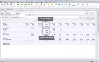 Capture d'écran Biloba : Budget temps de vos affaires