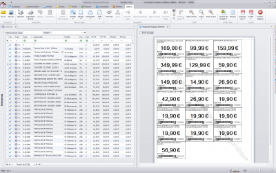 Impression des codes barres grâce au logiciel Biloba