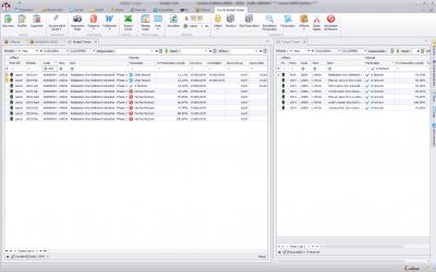 Capture d'écran Biloba : gestion de la facturation à l'avancement