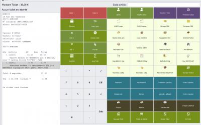 Capture écran du module Caisse du logiciel Biloba