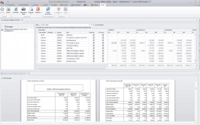 Capture d'écran Biloba Logiciel Travaux Publics : Tableaux de bord rentabilité