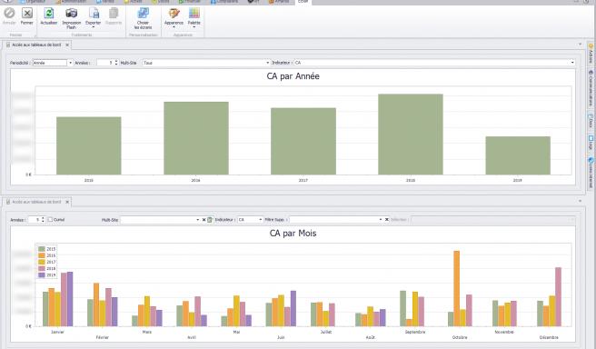 Capture d'écran Biloba - Analyse des ventes